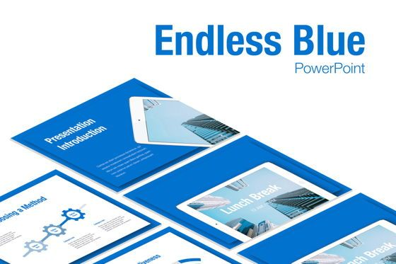 Presentation Templates: Endless Blue PowerPoint Template #05709