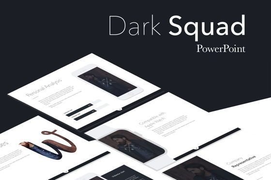 Presentation Templates: Dark Squad PowerPoint Template #05710