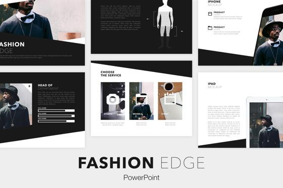 Presentation Templates: Fashion Edge PowerPoint Template #05712