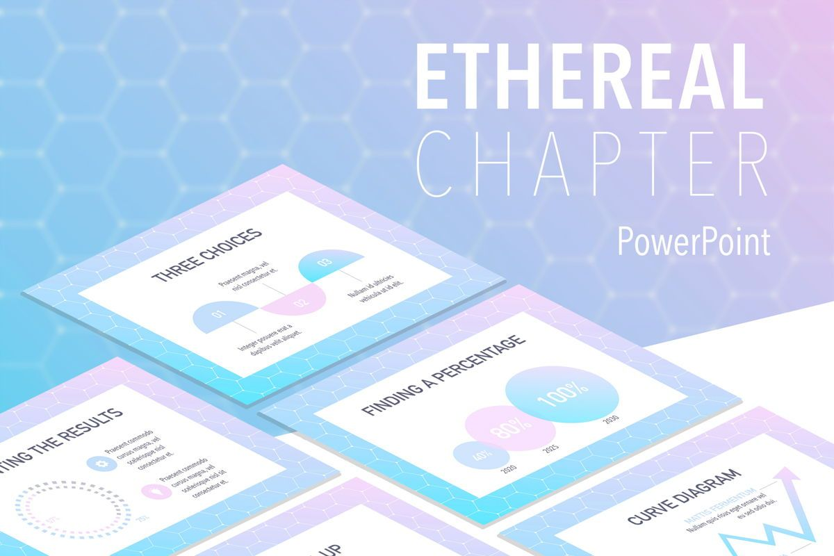 Ethereal Chapter PowerPoint Template, 05713, Education Charts and Diagrams — PoweredTemplate.com