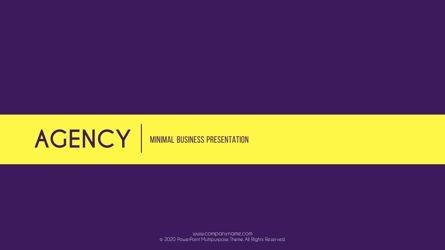 Presentation Templates: Agency Minimal Presentation Template #05719