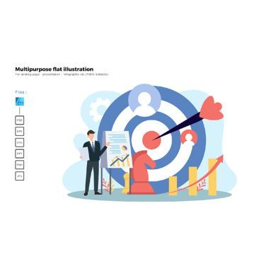Business Models: Multipurpose modern flat illustration design target marketing #05721