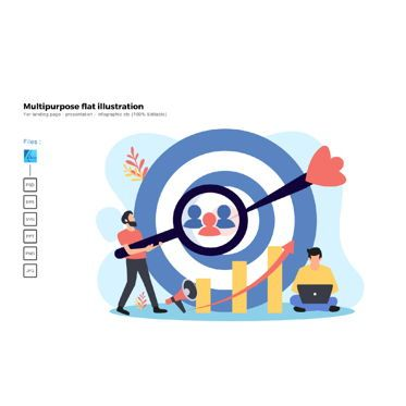 Business Models: Multipurpose modern flat illustration design target audience #05722