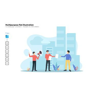 Business Models: Multipurpose modern flat illustration design ads campaign #05723