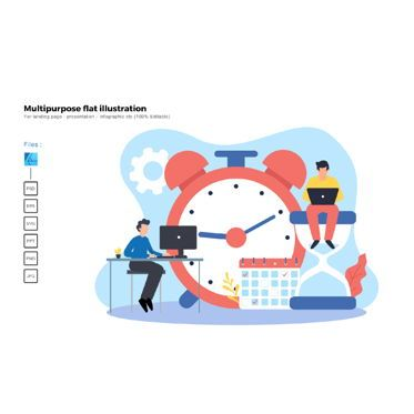 Business Models: Multipurpose modern flat illustration design time management #05725