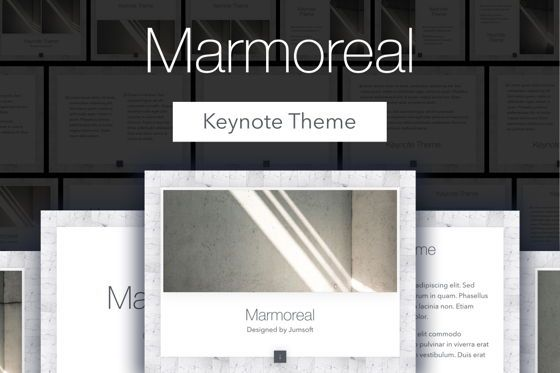 Presentation Templates: Marmoreal Keynote Template #05728
