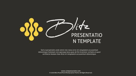 Presentation Templates: Blitz Company Presentation Template #05729