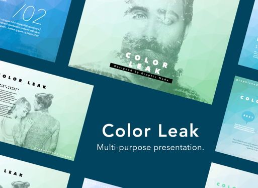 Presentation Templates: Color Leak Keynote Presentation Template #05736