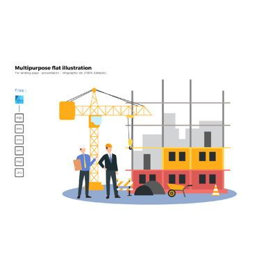 Business Models: Multipurpose modern flat illustration design construction 1 #05737