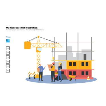 Business Models: Multipurpose modern flat illustration design construction 2 #05740