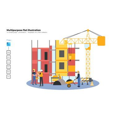 Business Models: Multipurpose modern flat illustration design construction 3 #05741