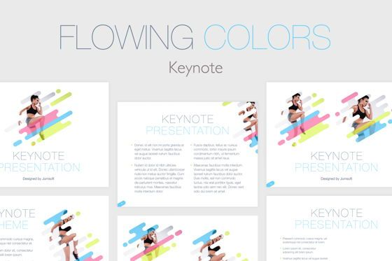 Presentation Templates: Flowing Colors Keynote Template #05742