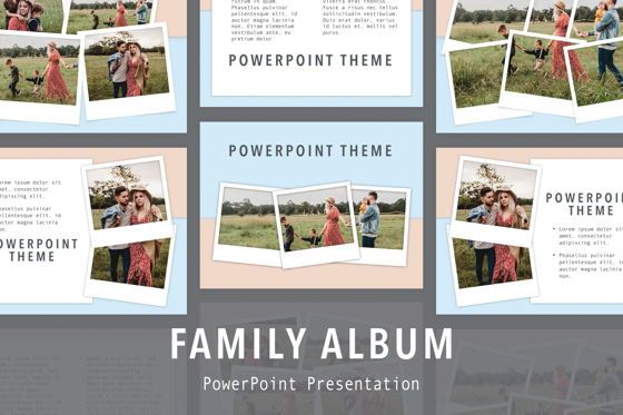 Presentation Templates: Family Album PowerPoint Template #05744