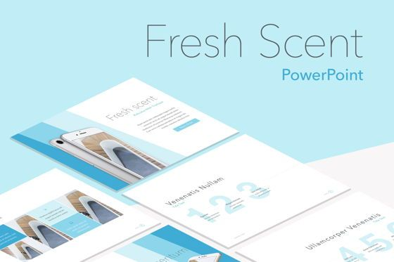 Presentation Templates: Fresh Scent PowerPoint Template #05745