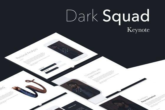 Presentation Templates: Dark Squad Keynote Template #05747