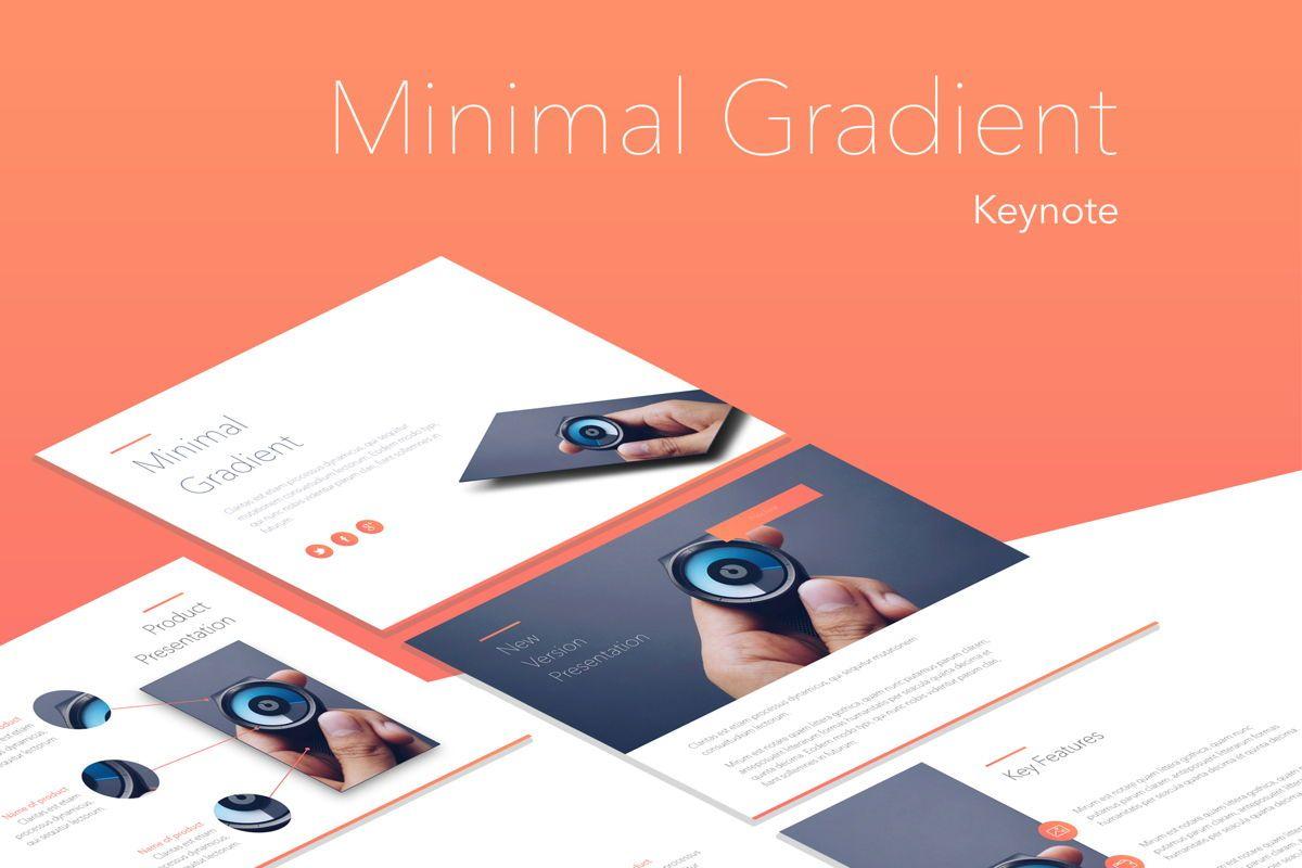 Minimal Gradient Keynote Template, 05748, Presentation Templates — PoweredTemplate.com
