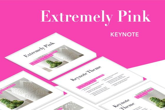 Presentation Templates: Extremely Pink Keynote Template #05749
