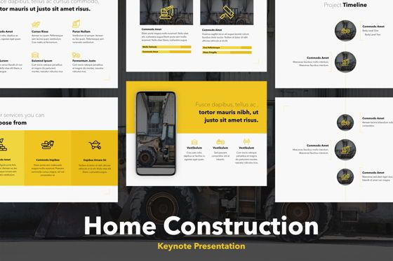 Presentation Templates: Home Construction Keynote Template #05752