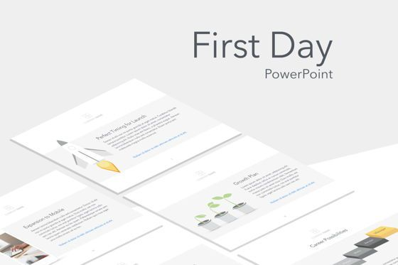 Presentation Templates: First Day PowerPoint Template #05753