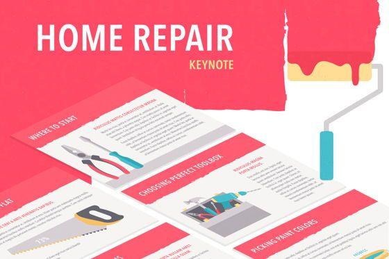 Presentation Templates: Flat Tools Keynote Template #05758
