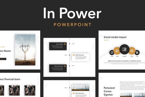 Presentation Templates: In Power PowerPoint Template #05761