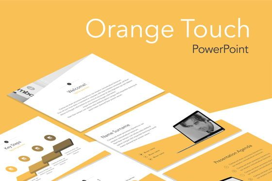 Presentation Templates: Orange Touch PowerPoint Template #05763
