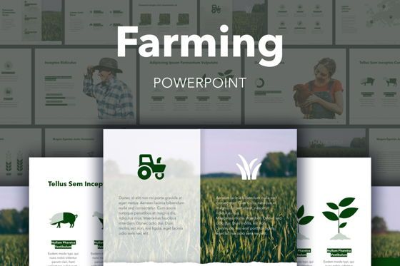 Presentation Templates: Farming PowerPoint Template #05765