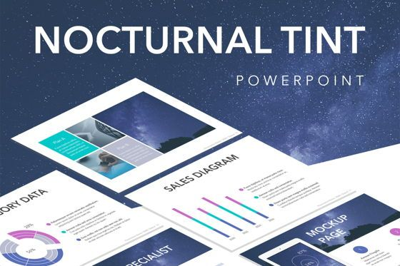 Presentation Templates: Nocturnal Tint PowerPoint Template #05767