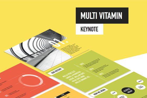 Presentation Templates: Multi Vitamin Keynote Template #05768
