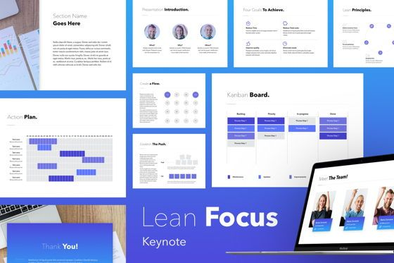 Presentation Templates: Lean Focus Keynote Template #05771