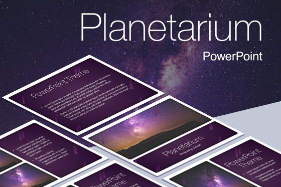 Presentation Templates: Planetarium PowerPoint Template #05776