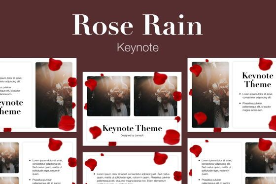 Presentation Templates: Rose Rain Keynote Template #05778