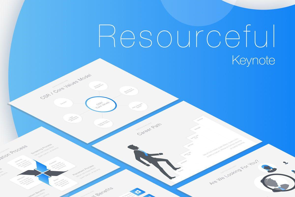 Resourceful Keynote Template, 05786, Presentation Templates — PoweredTemplate.com