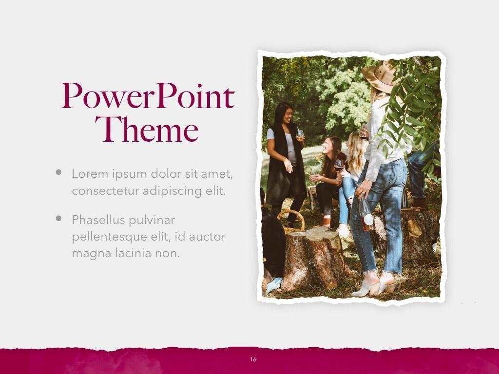 Red Wine PowerPoint Template, Slide 17, 05788, Presentation Templates — PoweredTemplate.com
