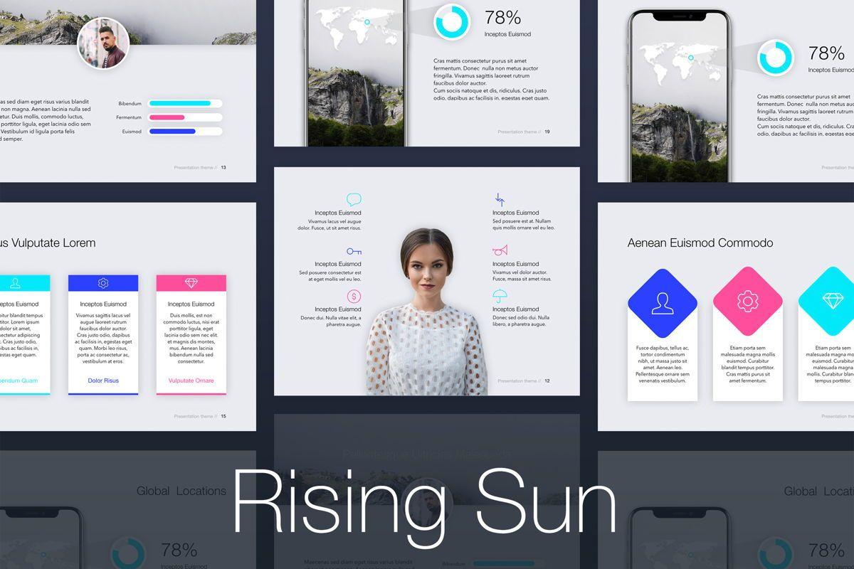 Rising Sun Keynote Template, 05794, Presentation Templates — PoweredTemplate.com