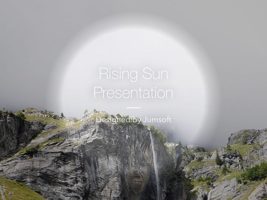 Rising Sun Keynote Template, Slide 2, 05794, Presentation Templates — PoweredTemplate.com
