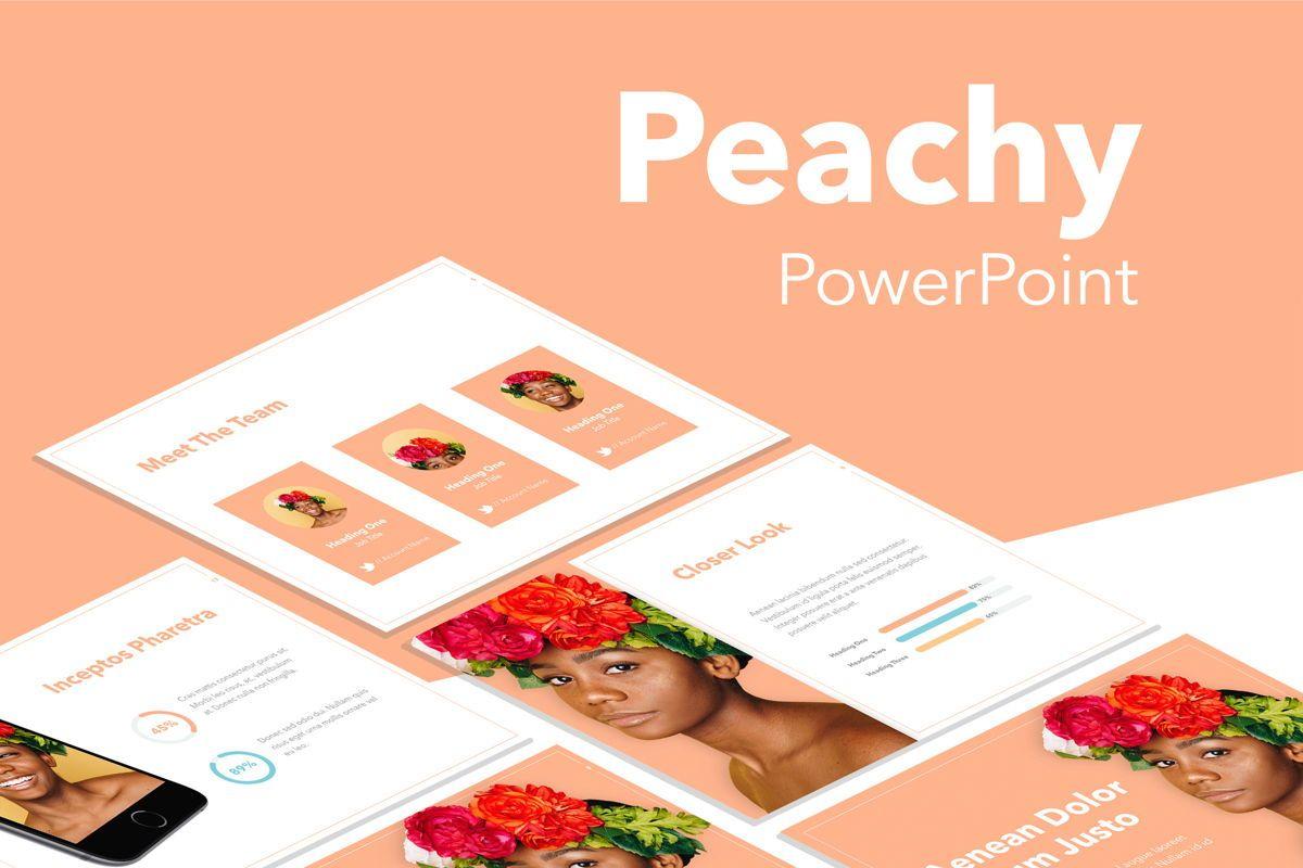 Peachy PowerPoint Template, 05795, Presentation Templates — PoweredTemplate.com