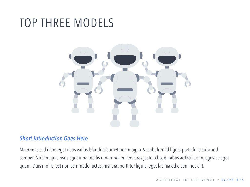 Robot Showcase PowerPoint Template, Slide 12, 05796, Presentation Templates — PoweredTemplate.com