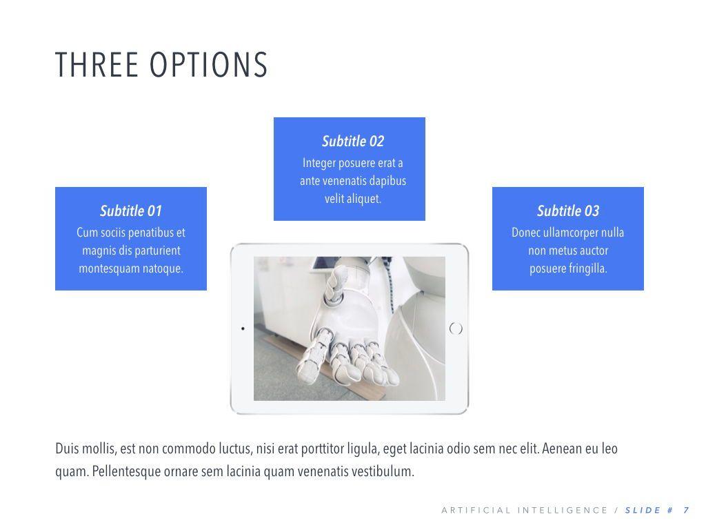 Robot Showcase PowerPoint Template, Slide 8, 05796, Presentation Templates — PoweredTemplate.com