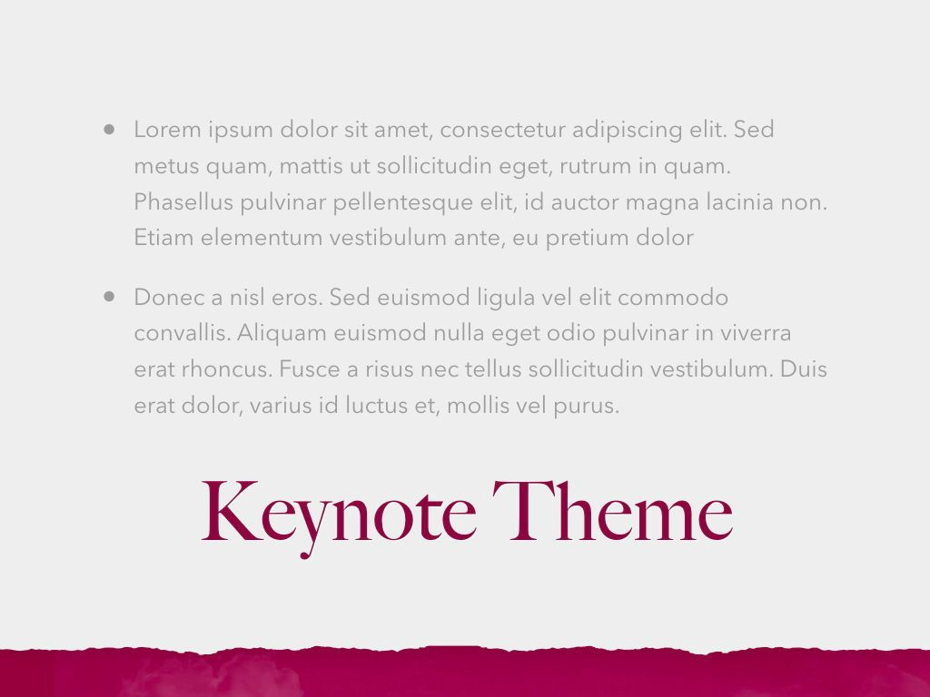 Red Wine Keynote Template, Slide 12, 05797, Presentation Templates — PoweredTemplate.com