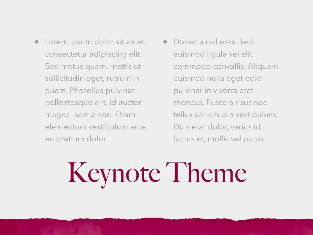 Red Wine Keynote Template, Slide 13, 05797, Presentation Templates — PoweredTemplate.com
