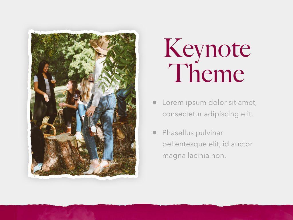 Red Wine Keynote Template, Slide 18, 05797, Presentation Templates — PoweredTemplate.com