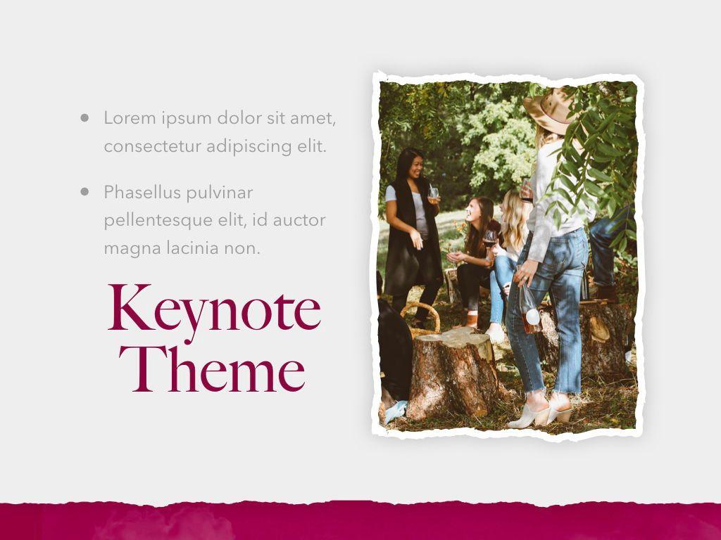 Red Wine Keynote Template, Slide 19, 05797, Presentation Templates — PoweredTemplate.com