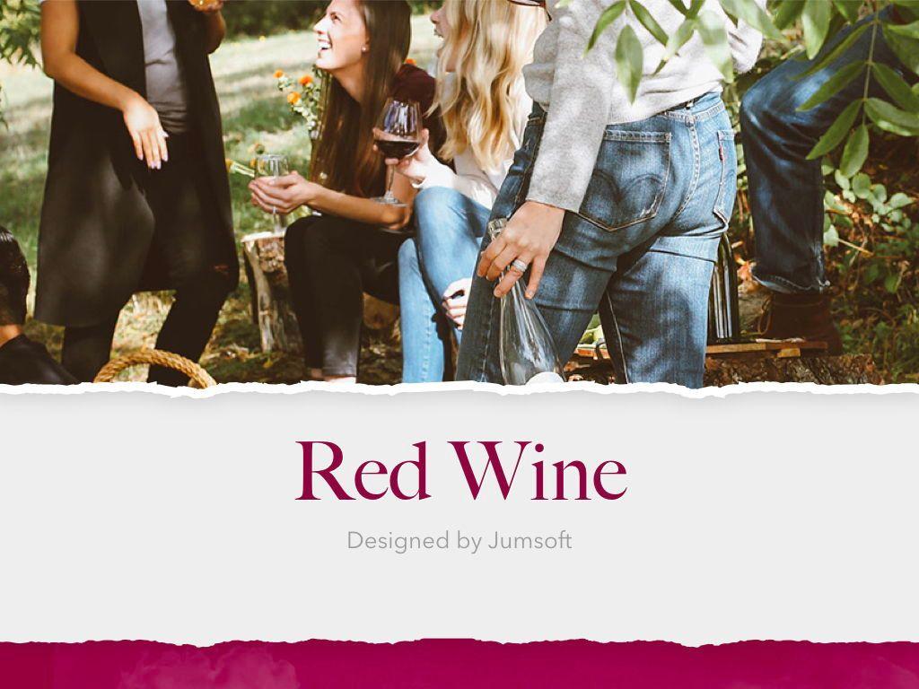 Red Wine Keynote Template, Slide 2, 05797, Presentation Templates — PoweredTemplate.com