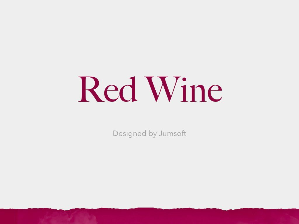 Red Wine Keynote Template, Slide 3, 05797, Presentation Templates — PoweredTemplate.com