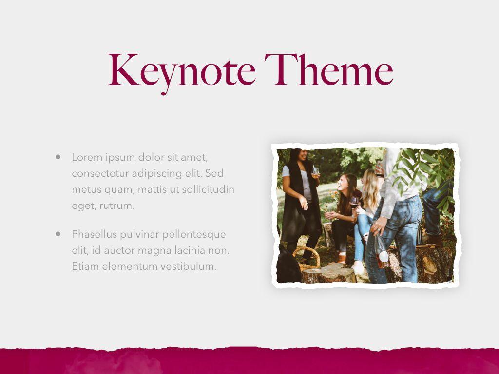 Red Wine Keynote Template, Slide 30, 05797, Presentation Templates — PoweredTemplate.com