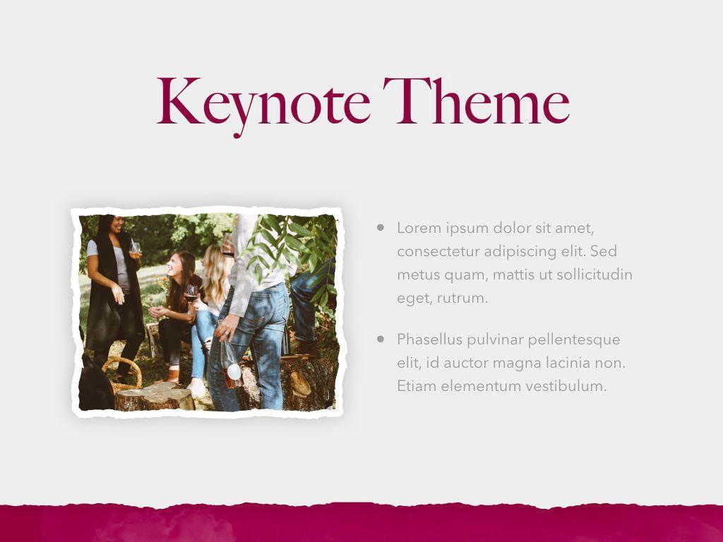 Red Wine Keynote Template, Slide 31, 05797, Presentation Templates — PoweredTemplate.com