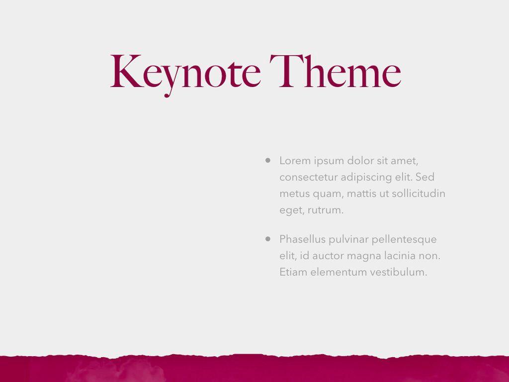 Red Wine Keynote Template, Slide 33, 05797, Presentation Templates — PoweredTemplate.com
