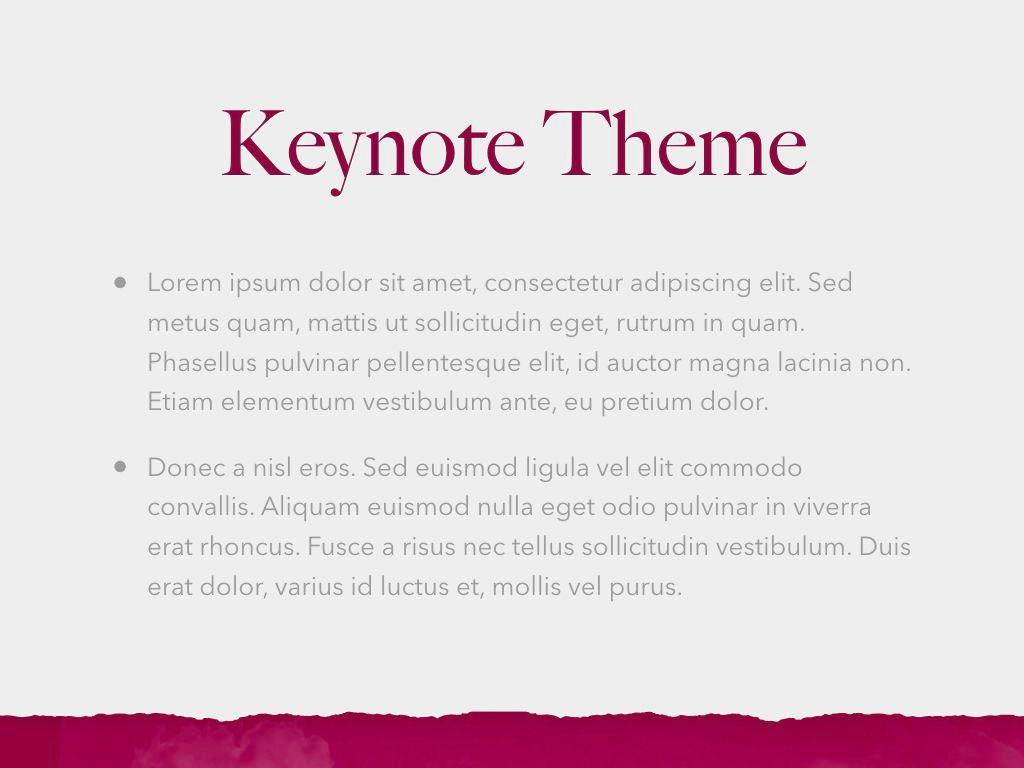 Red Wine Keynote Template, Slide 4, 05797, Presentation Templates — PoweredTemplate.com