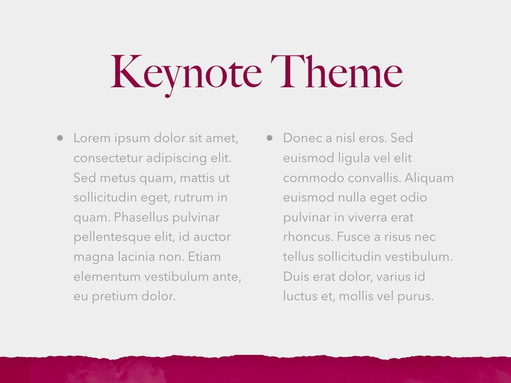 Red Wine Keynote Template, Slide 5, 05797, Presentation Templates — PoweredTemplate.com